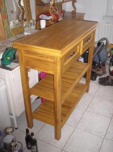 Záhradný príborový stolík 1